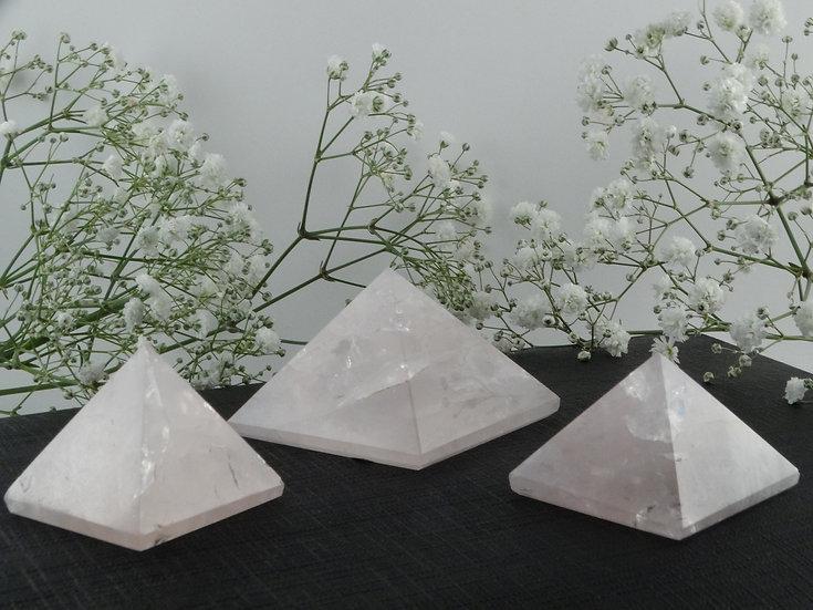 Pirâmide Quartzo Rosa - Média