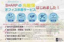 SHARPの光触媒オフィス抗菌サービス取扱い開始しました!