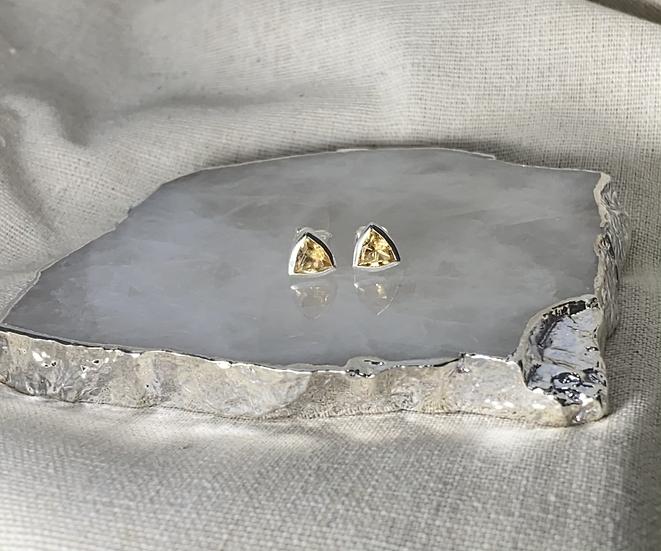 Brinco Trindade Divina - Citrino - 6 mm