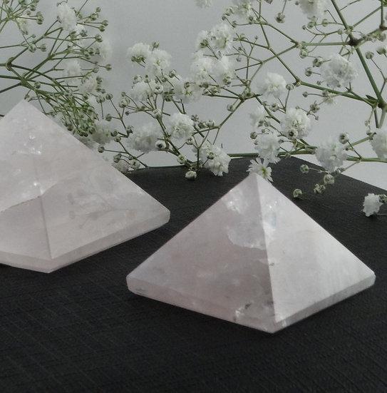 Pirâmide Quartzo Rosa - Pequena