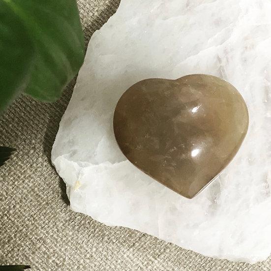 Coração Citrino Natural