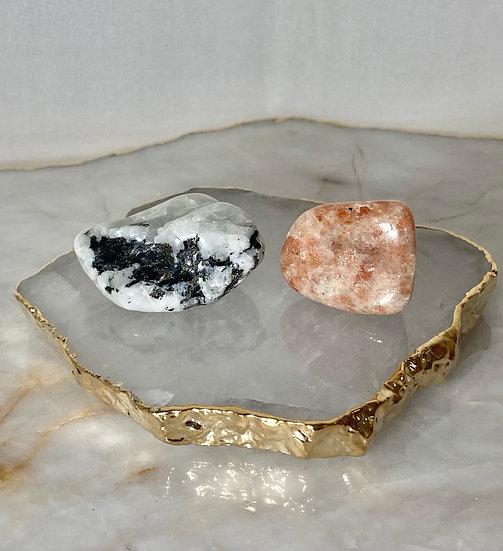 Kit Sol e Lua - Pedras Roladas
