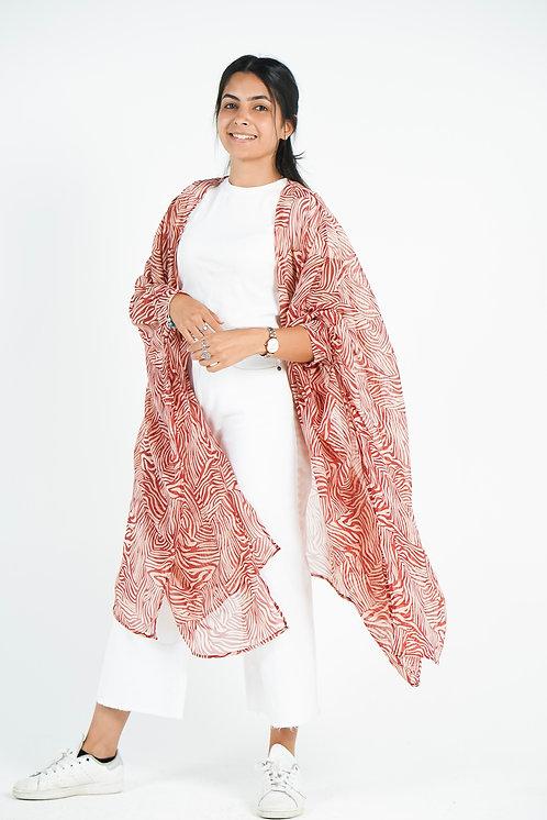 Red Zebra Kimono
