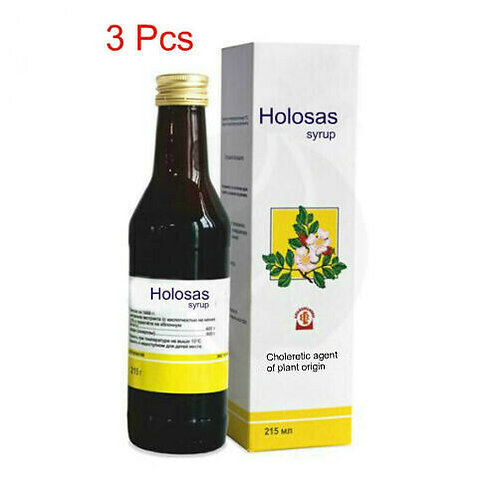 Holosas rosehip syrup, 3Pcs 215 ml for liver health and immune support