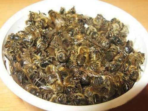 Organic dried dead body bees APISTOTALE propolis honey pollen one lot 2oz.