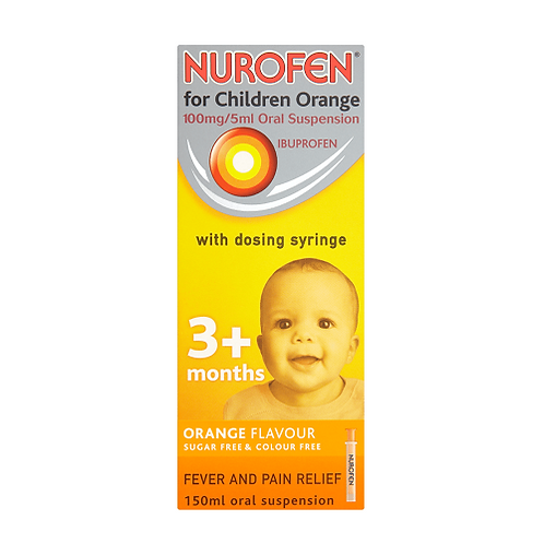 Nurofen for children suspension 0.1 / 5ml 150ml. Orange