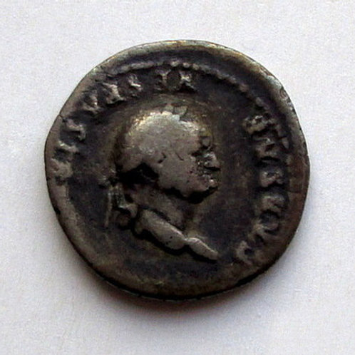 Ancient Rome. Imp. Vespasian (69-79). Denarius. Silver. Rare antique coin! Antik