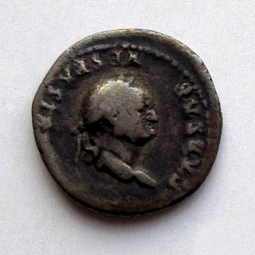 Ancient Rome. Imp. Vespasian (69-79). Denarius. Silver. Rare antique coin! Antik