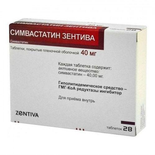 Simvastatin Zentiva 0.04 No. 28 tab.