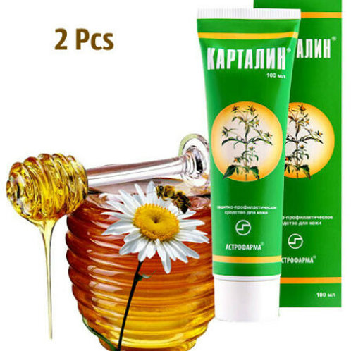 Kartalin cream for the treatment of dermatoses psoriasis and eczema 100ml*2Pcs