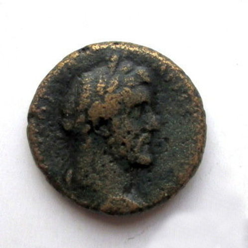 Antique coin. Ancient Greece, Rhodes island. 2nd century BC. Antika