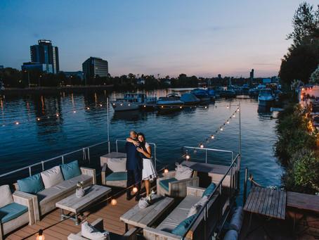 Hochzeitsreportage Blaues Wasser Frankfurt