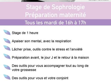 Stage sophrologie maternité