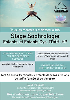 stage sophrologie samedi et mercredi pon