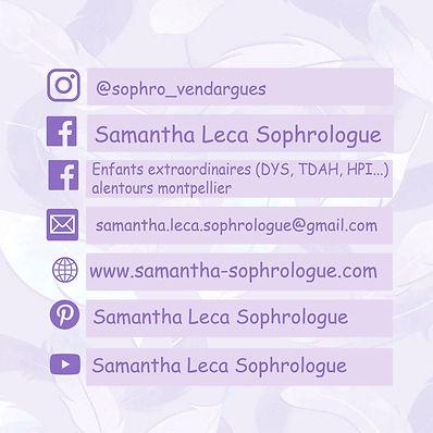 samantha leca sophrologue vendargues enfants