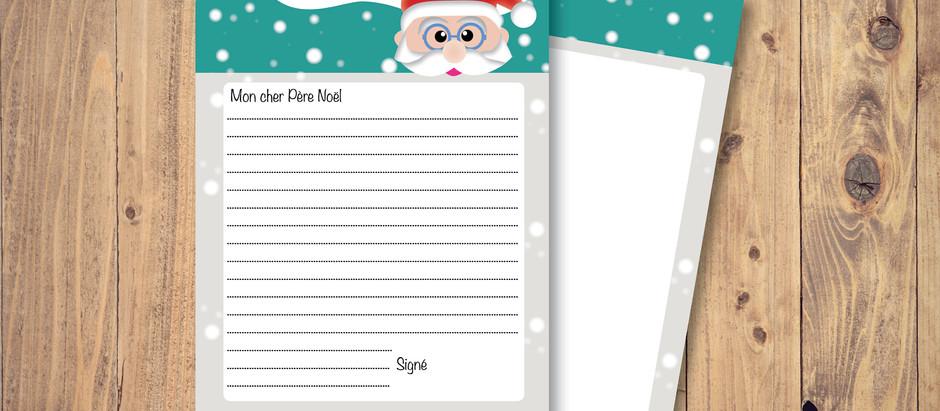 Printable - Liste au Père Noël
