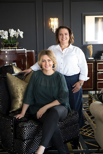 Nyria and Kylie from Palm Interiors. Interior Designers Brisbane