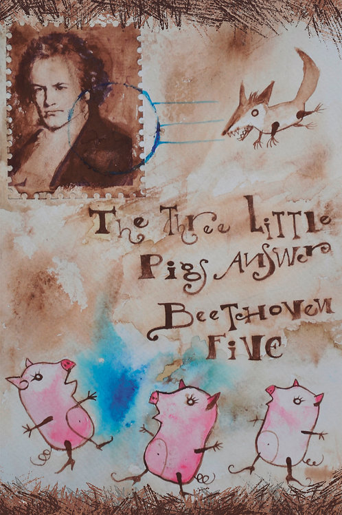 The Three Little Pigs Answer Beethoven Five for String Quartet Sheet Music