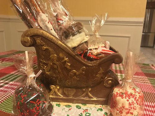 Chocolate Sleigh filled wit h Goodies