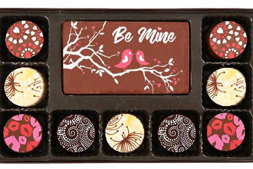 Valentines truffles 10 piece set