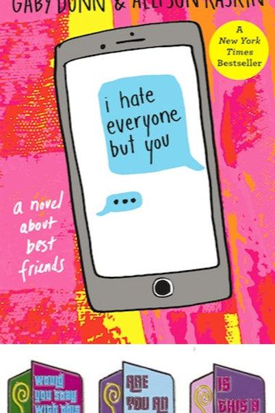 I Hate Everyone But You Book Plus JBU Pin Set!
