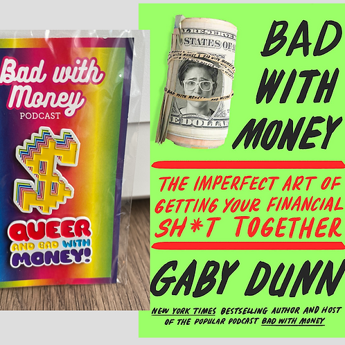 Bad With Money Book and Pin Set Bundle