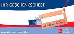 Geschenkscheck € 15