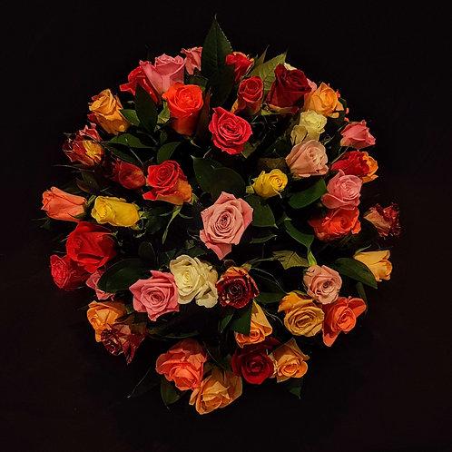mixed rose bouquet. זר וורדים מעורב