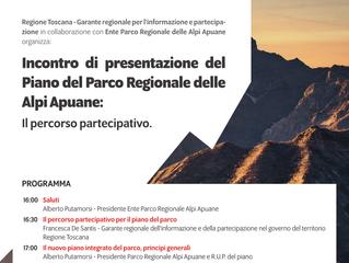 Incontro di presentazione del Piano del Parco regionale delle Alpi Apuane: percorso partecipativo