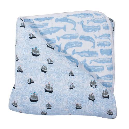 High Seas + Moby Muslin Blanet