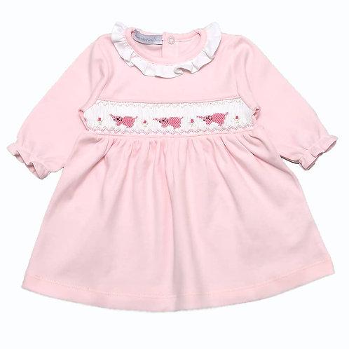 Pink Elephant Smock Dress