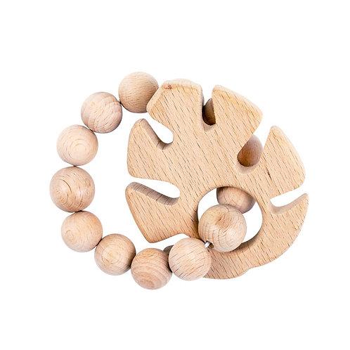 Tropical Leaf Wood Teether