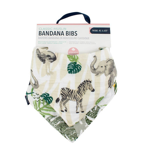 Jungle + Rainforest Bib Set