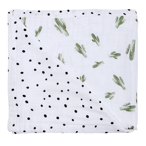 Saguaro + Dot Muslin Blanket