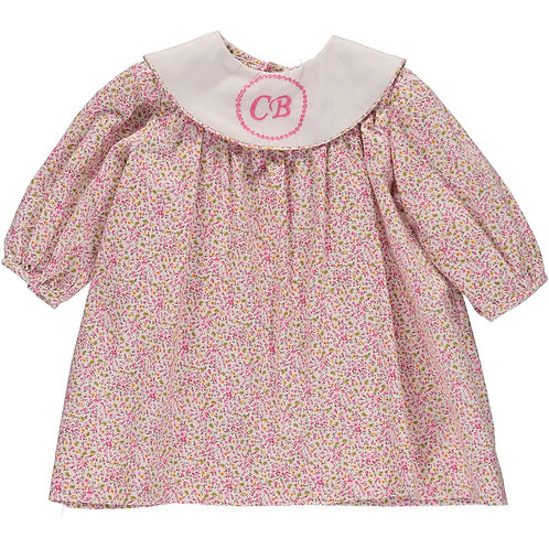 Pink Floral Monogramable
