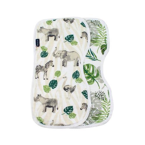 Jungle + Rainforest Burp Cloths