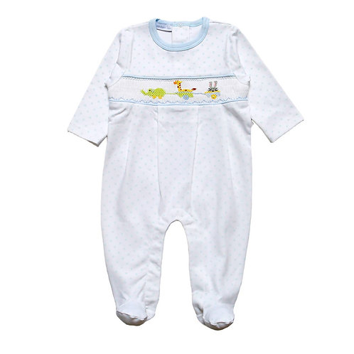 Animal Parade Smocked Pima Onesie
