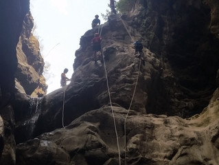 Rappelling (dry or wet)