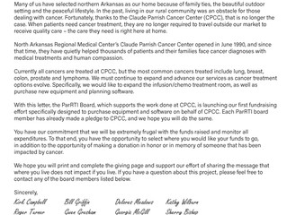 Cancer Center Board Launches Fundraiser