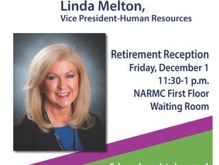 Join us for Linda Melton's Retirement Reception