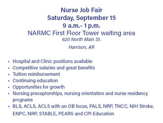 Nurse Job Fair Scheduled for Sept. 15