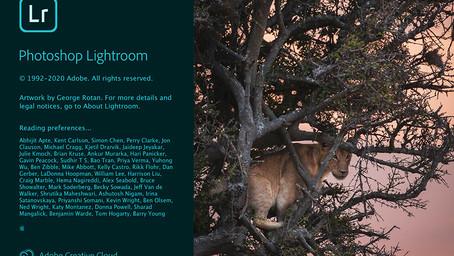 Lightroom Splash sports your image!