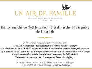 """dernière vente avant Noël chez """"Un Air de Famille"""""""