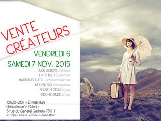 vente créateurs à Paris!