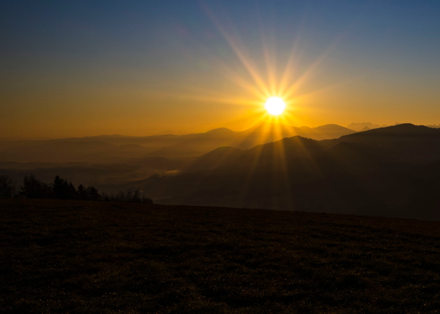 Sonnenaufgang hoch über Werthenstein