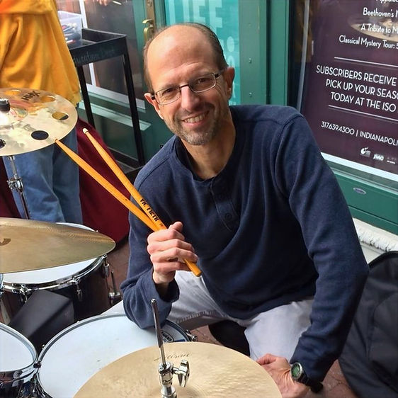 Craig Hetrick sitting at his drum set