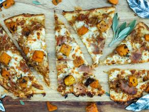 Butternut Squash Prosciutto Pizza