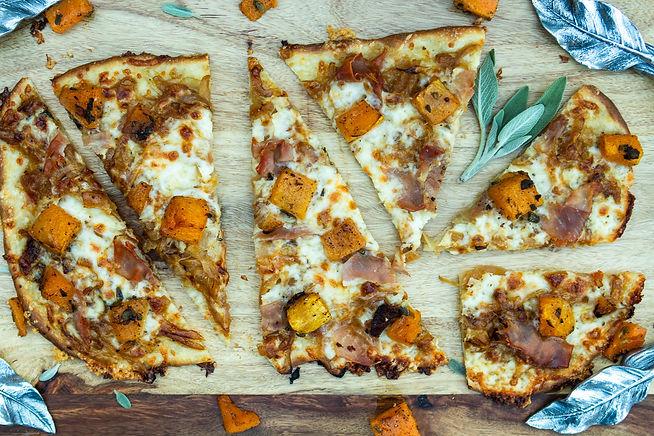 ROASTED BUTTERNUT SQUASH PROCIUTTO PIZZA