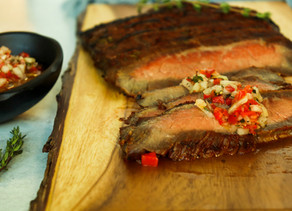 Argentine Flank Steak with Salsa Criolla
