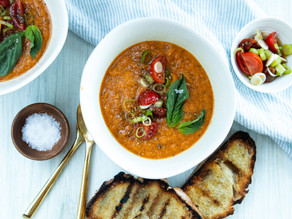 Grilled Vegetable Gazpacho